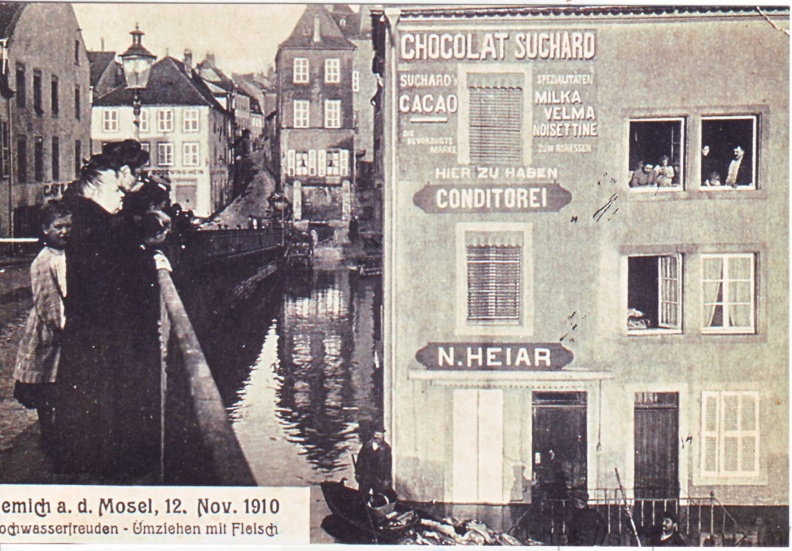 1910 Hochwasser in Remich